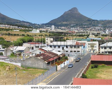 Woodstock, With Lions Head In The Back Ground, Cape Town South Africa