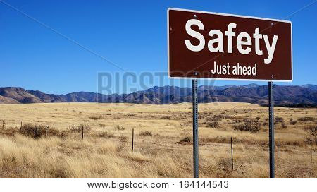 Safety Brown Road Sign