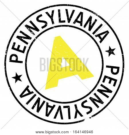 Pennsylvania stamp. Grunge design with dust scratches. Effects can be easily removed for a clean, crisp look. Color is easily changed.