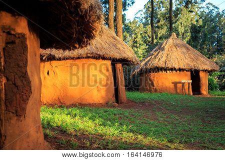Traditional, Tribal Village Of Kenyan People