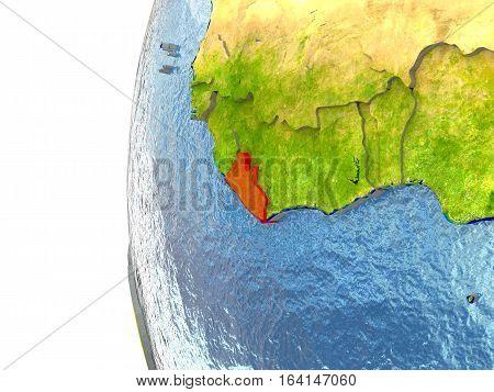 Liberia In Red