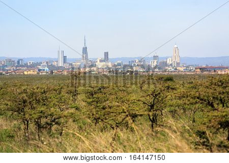 Nairobi Cityscape - Capital City Of Kenya
