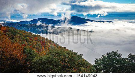 autumn season on the blue ridge parkway