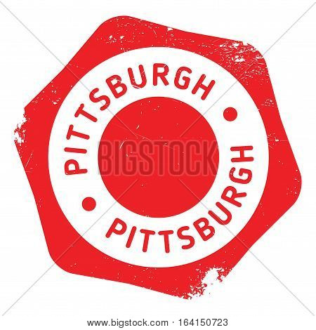 Pittsburgh stamp. Grunge design with dust scratches. Effects can be easily removed for a clean, crisp look. Color is easily changed.