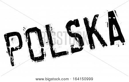 Polska Poland stamp. Grunge design with dust scratches. Effects can be easily removed for a clean, crisp look. Color is easily changed.