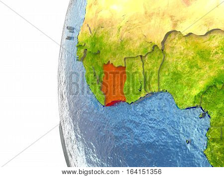 Ivory Coast In Red