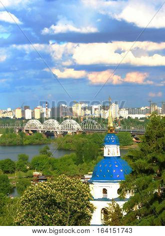 Vidubichi monastery in Kiev, Ukraine. The monastery was established between 1070 and 1077 by Vsevolod, son of Yaroslav the Wise. It was a family cloister of Vsevolod's son Vladimir Monomakh and his descendants