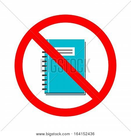 Stock vector of no book. Prohibition for opening book. Don't read a book