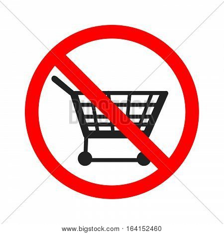 Stock vector of no trolley. Prohibition for using trolley.