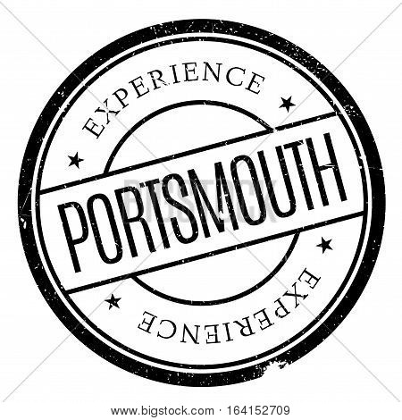 Portsmouth stamp. Grunge design with dust scratches. Effects can be easily removed for a clean, crisp look. Color is easily changed.