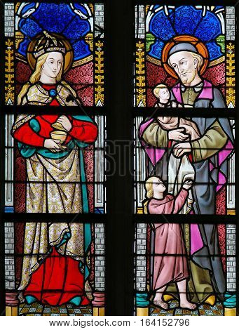 Stained Glass - Saint Vincent De Paul And Mary Magdalene