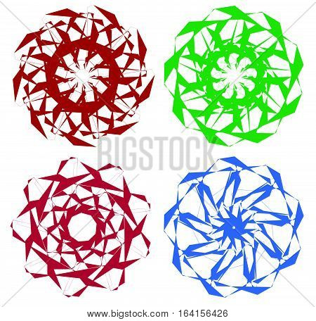 Set Of Circular Geometric Elements / Minimal Mandalas