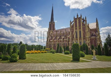 Holy Trinity catholic church Gervyaty village Grodno region Belarus