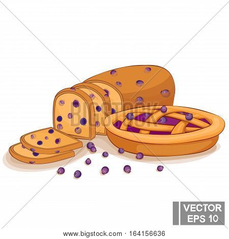 Blueberry Cake And Bread