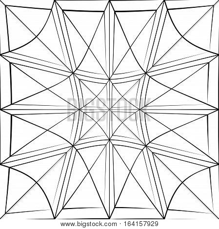 Grid Pattern With Deformation Effect. Abstract Monochrome Background.