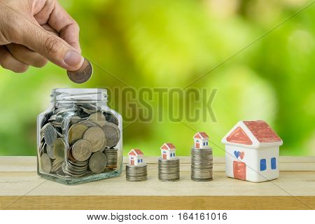 Savings plans for housing , financial concept