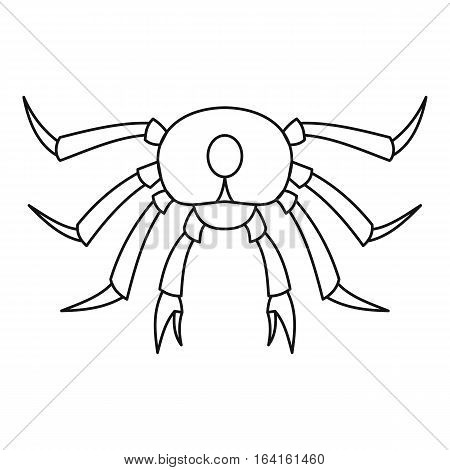 Seafood crab icon. Outline illustration of seafood crab vector icon for web