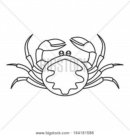 Crab seafood icon. Outline illustration of crab seafood vector icon for web