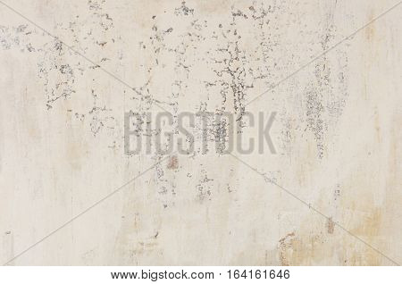 close up gray old rough wall plaster background