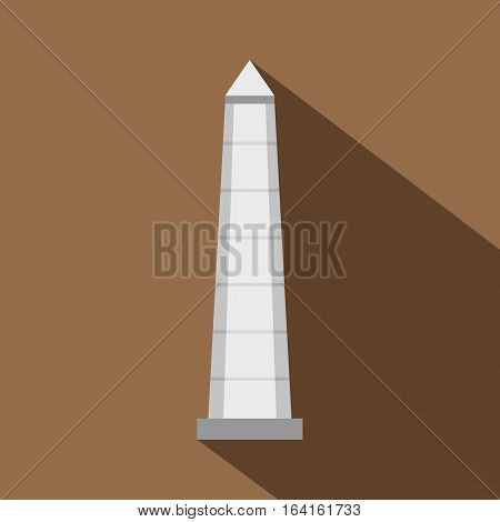 The Obelisk of Buenos Aires icon. Flat illustration of the Obelisk of Buenos Aires vector icon for web isolated on coffee background