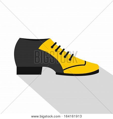 Male tango shoe icon. Flat illustration of male tango shoe vector icon for web isolated on white background