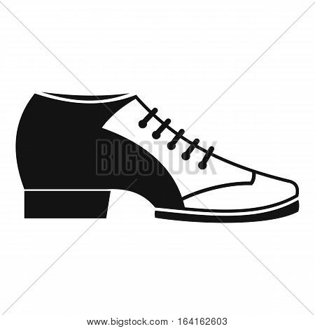 Tango shoe icon. Simple illustration of tango shoe vector icon for web