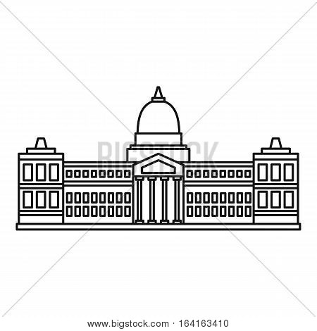 Palace of Congress, Buenos Aires icon. Outline illustration of Palace of Congress, Buenos Aires vector icon for web