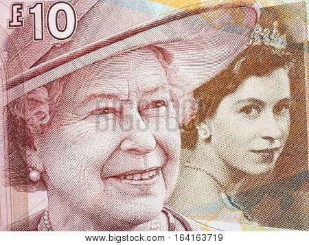 Queen Elizabeth II, portrait from Scottish money