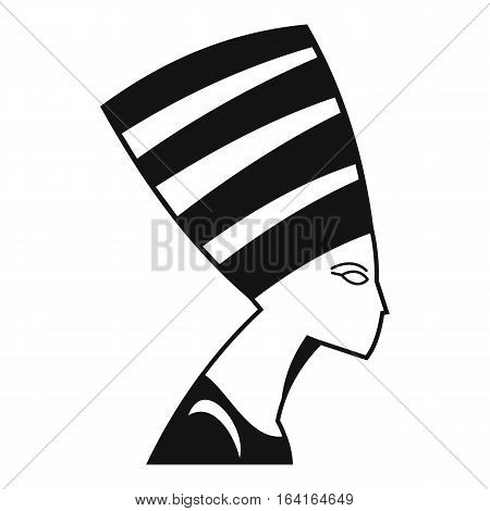 The head of the Egyptian queen icon. Simple illustration of the head of the Egyptian queen vector icon for web
