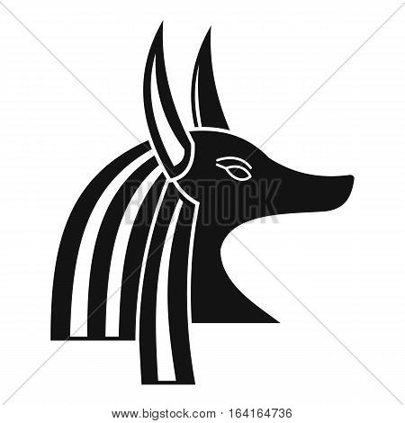 Ancient egyptian god Anubis icon. Simple illustration of ancient egyptian god Anubis vector icon for web