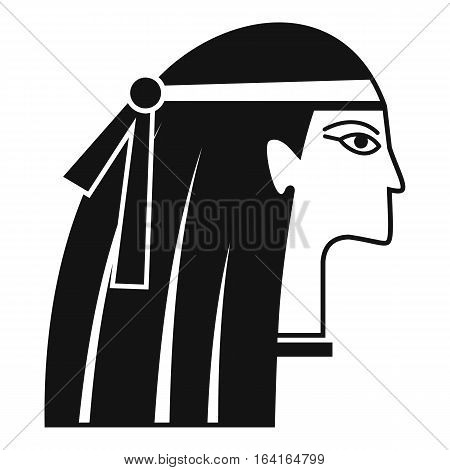 Egyptian girl icon. Simple illustration of egyptian girl vector icon for web