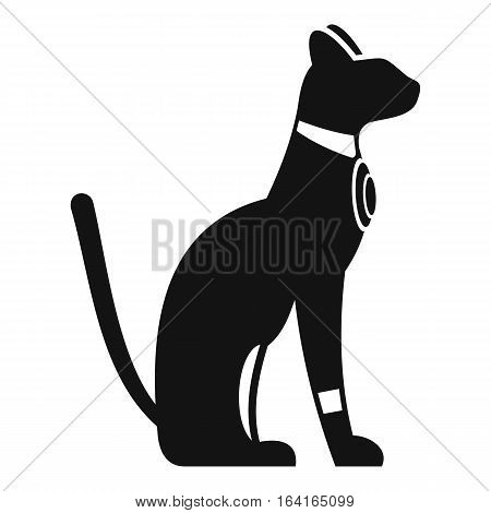 Egyptian cat icon. Simple illustration of Egyptian cat vector icon for web