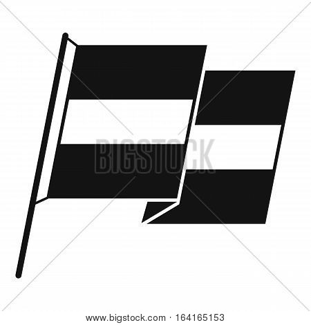 Egyptian flag icon. Simple illustration of egyptian flag vector icon for web