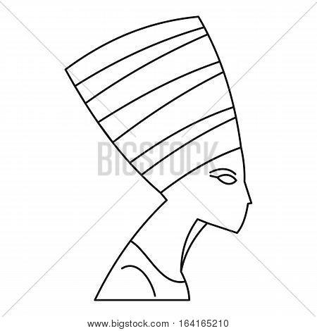 Nefertiti icon. Outline illustration of Nefertiti vector icon for web