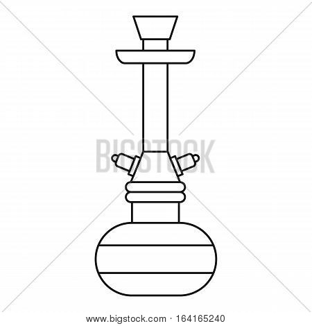 Hookah icon. Outline illustration of hookah vector icon for web