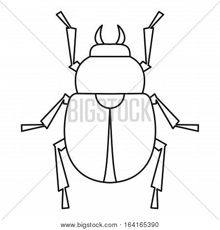Scarab beetle icon. Outline illustration of scarab beetle vector icon for web