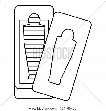 Sarcophagus icon. Outline illustration of sarcophagus vector icon for web