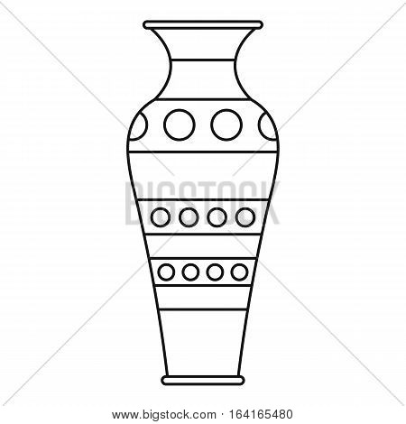 Vase icon. Outline illustration of vase vector icon for web