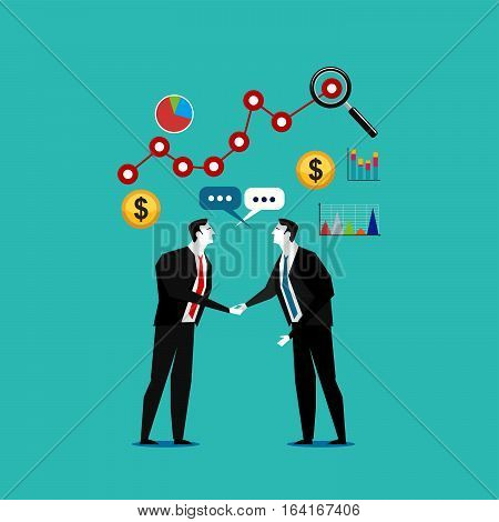 Two businessman handshaking. Business Deal. Business Collaboration. Business Partnership.