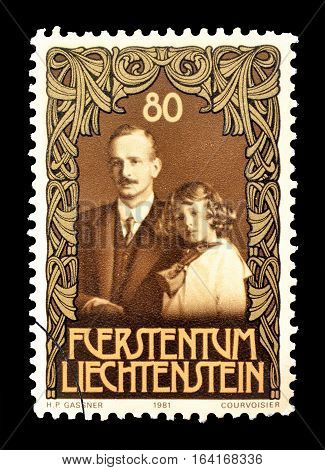 LIECHTENSTEIN - CIRCA 1981 : Cancelled postage stamp printed by Liechtenstein, that shows Franz Josef II.