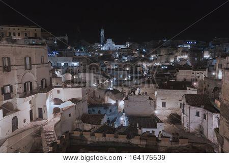 Rocks view of Matera Basilicata South Italy Capital of Culture 2019