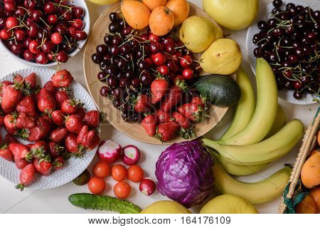 Fruit And Vegetables, All Colors Of The Rainbow
