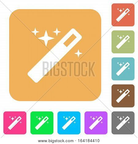 Magic wand icons on rounded square vivid color backgrounds.