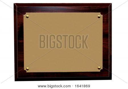 Blank Plaque