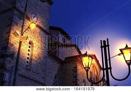 night church of Saint Athanasios Kimi village Euboea Greece