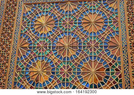 Turkic traditional decoration art ornament background photo