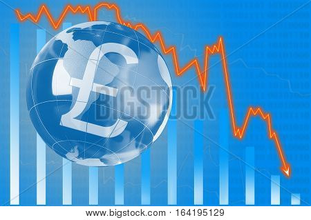 Schedule fall of the Swiss franc economic, financial diagram  concept,