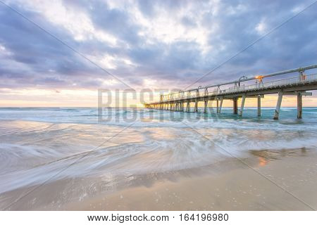 The sand pumping jetty on the Gold Coast, Australia