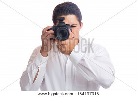 Photographer Trainee Photography Photos Camera Occupation Hobby Isolated