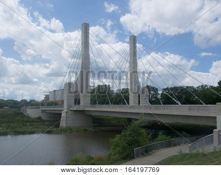 Lane Ave Bridge on the campus of the Ohio State University in Columbus Ohio